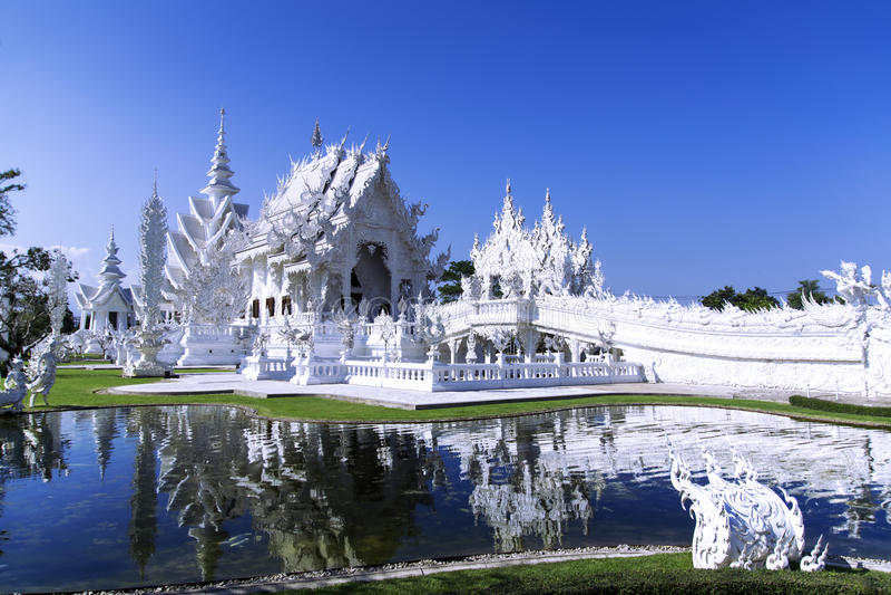 Witte Tempel, Chiang Rai Thailand stock afbeelding