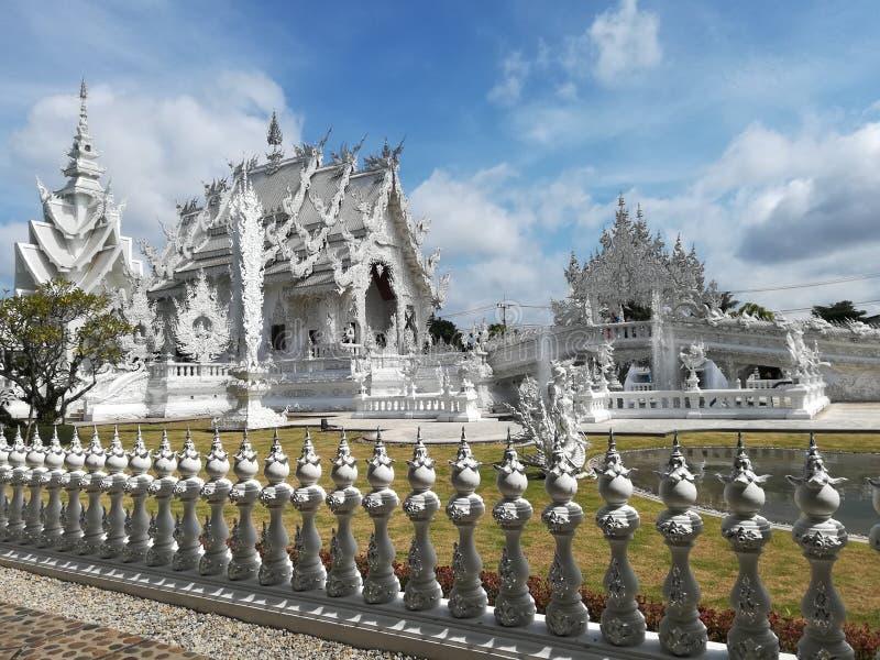 Witte tempel, Chiang Rai, Thailand stock foto
