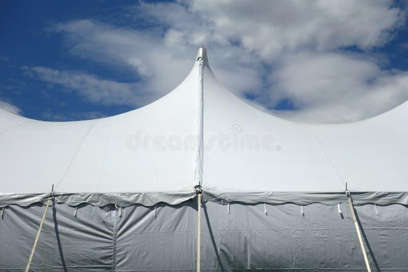 Witte tent royalty-vrije stock foto