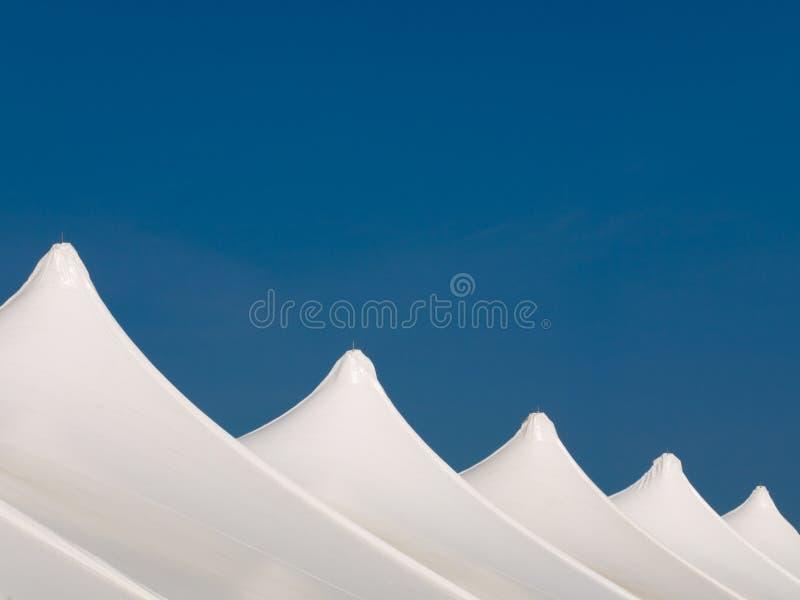 Witte Tenten royalty-vrije stock foto's