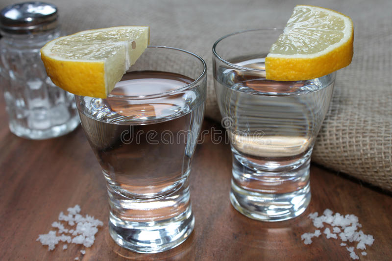 Witte tequila stock fotografie