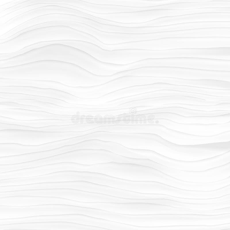 witte Textuur Abstract naadloos patroon golf golvende aard geome royalty-vrije stock afbeelding