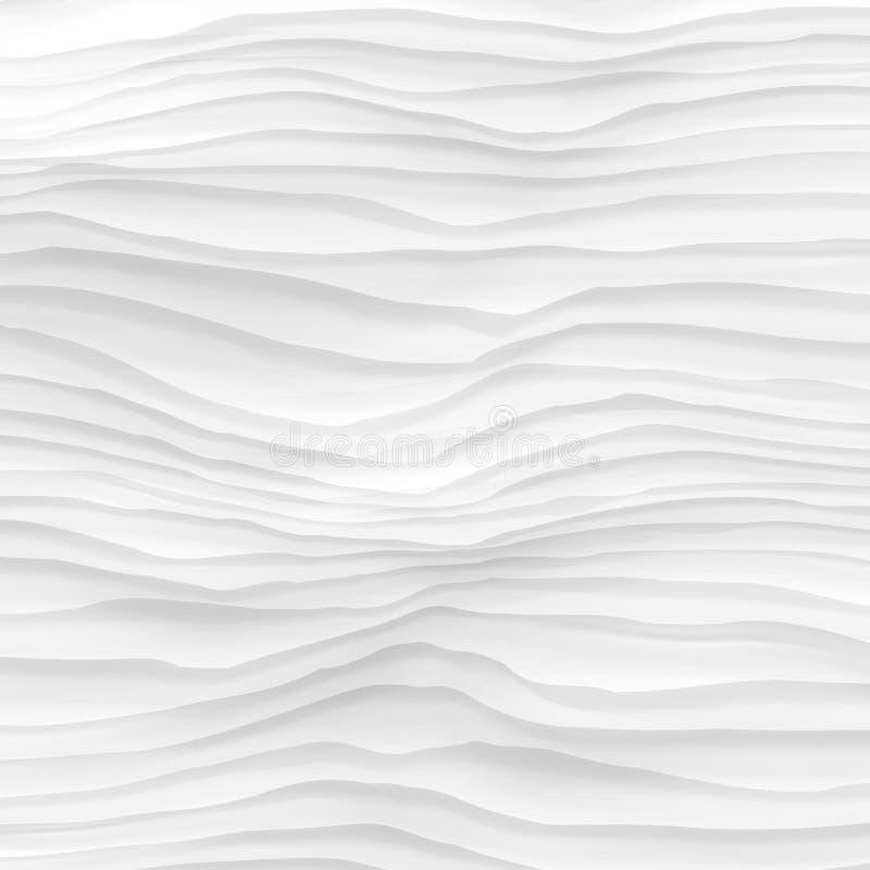 witte Textuur Abstract naadloos patroon golf golvende aard geome royalty-vrije stock fotografie