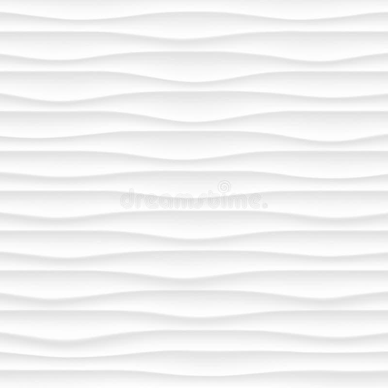 witte Textuur Abstract naadloos patroon golf golvende aard geome stock afbeeldingen