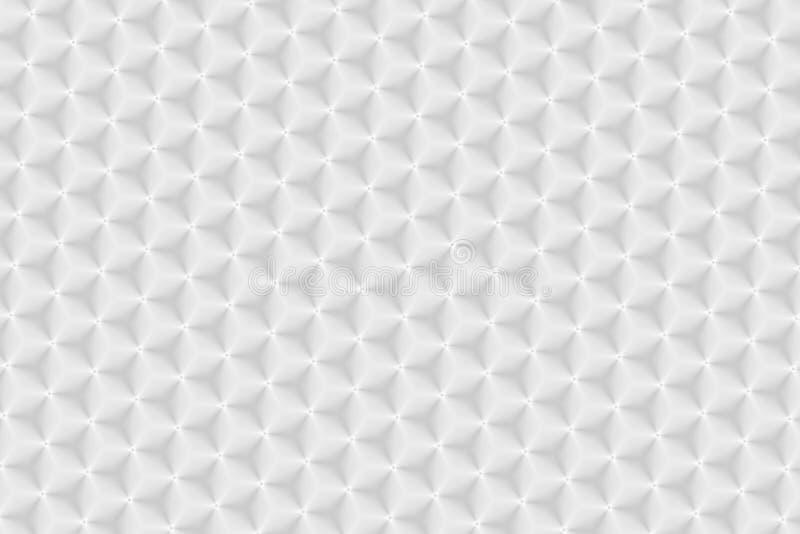 Witte textuur geometrische 3D kubussen als achtergrond royalty-vrije stock afbeelding