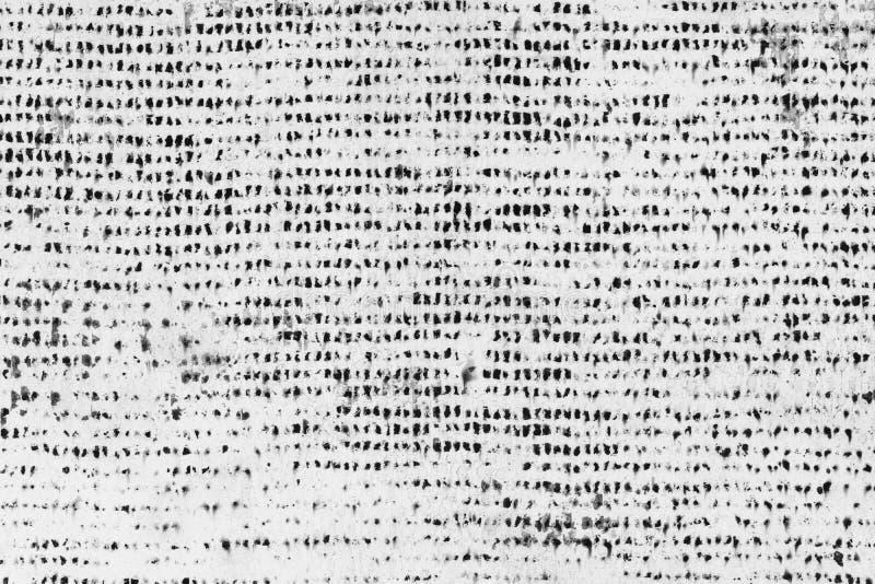 Witte textuur met zwarte asymmetrische punten stock afbeelding