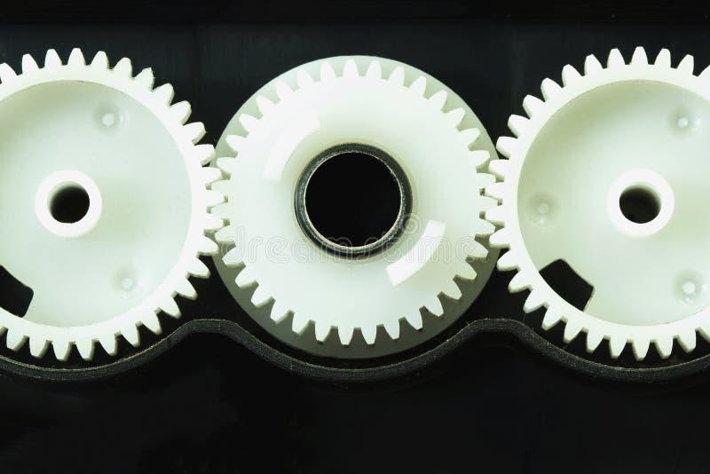 Witte toestelcomponenten van de printer royalty-vrije stock fotografie