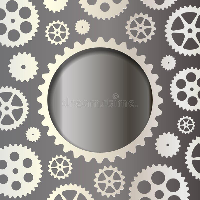 Witte toestellen op een donkere achtergrond vector illustratie