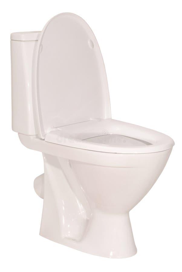 Witte toiletkom (het Knippen weg) royalty-vrije stock afbeeldingen