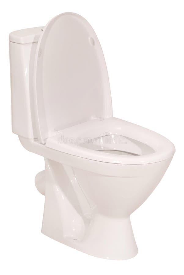 Witte toiletkom (het Knippen weg) stock afbeelding