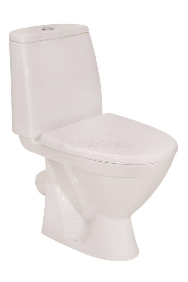 Witte toiletkom (het Knippen weg) royalty-vrije stock afbeelding