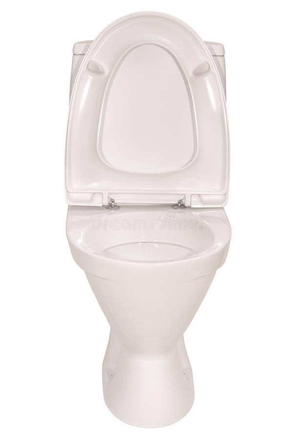 Witte toiletkom het Knippen weg royalty-vrije stock afbeeldingen