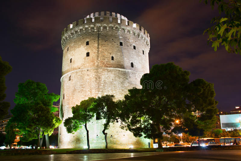 Witte Toren, Thessaloniki stock foto