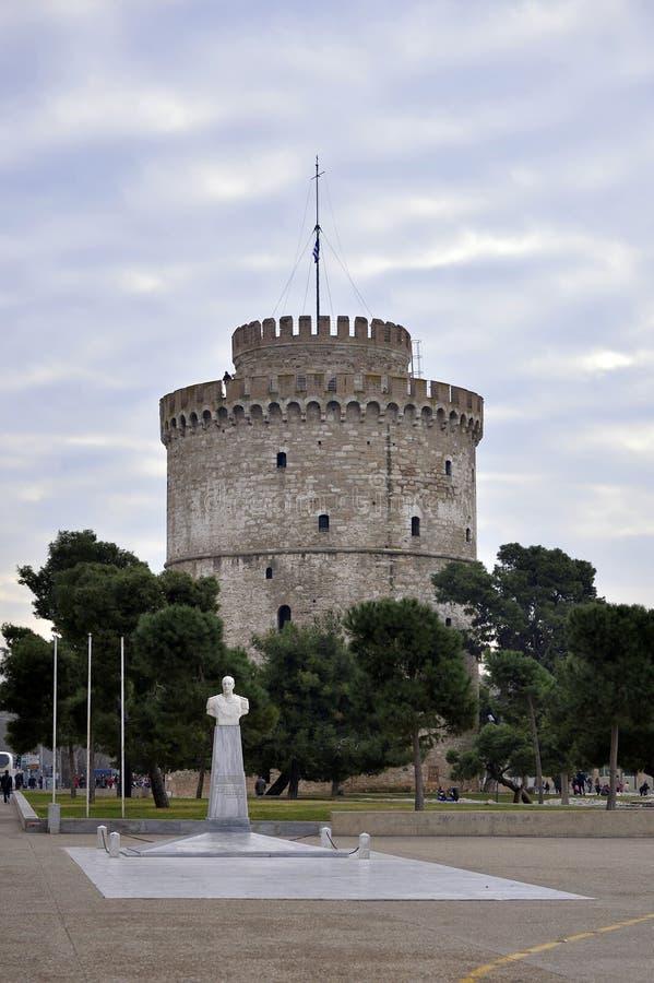 Witte Toren van Thessaloniki, Griekenland royalty-vrije stock afbeeldingen