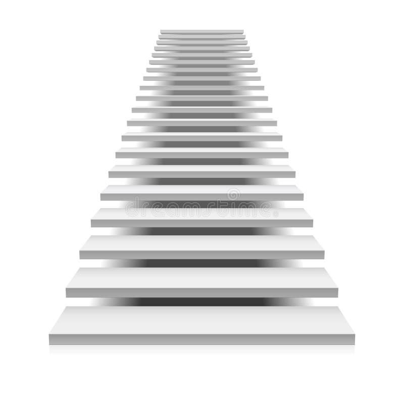 Witte trap vector illustratie