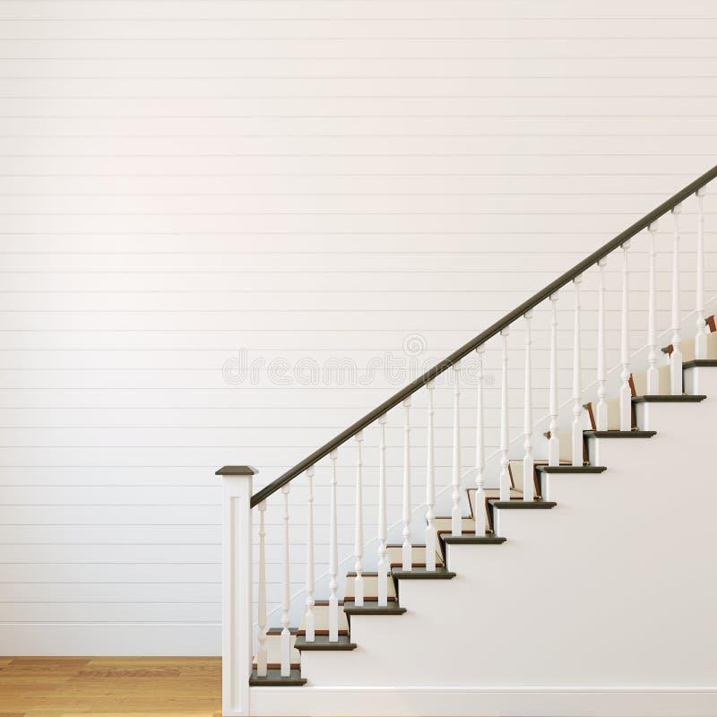 Witte trap. vector illustratie