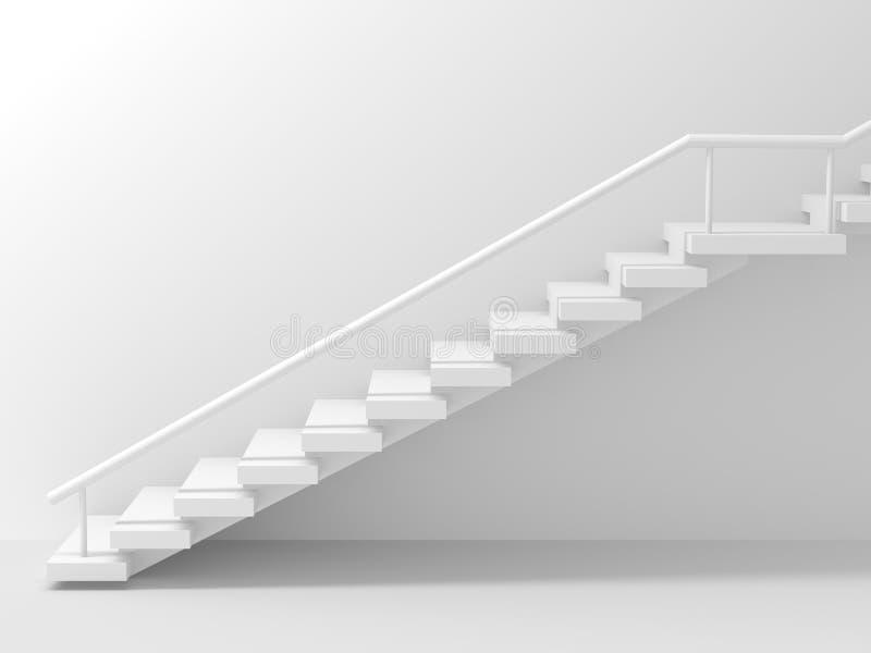 Download Witte Treden Over Abstracte Achtergrond Stock Illustratie - Illustratie bestaande uit samenvatting, perspectief: 39106385