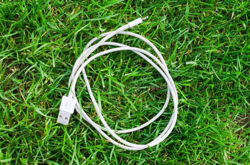 Witte usbkabel stock foto's