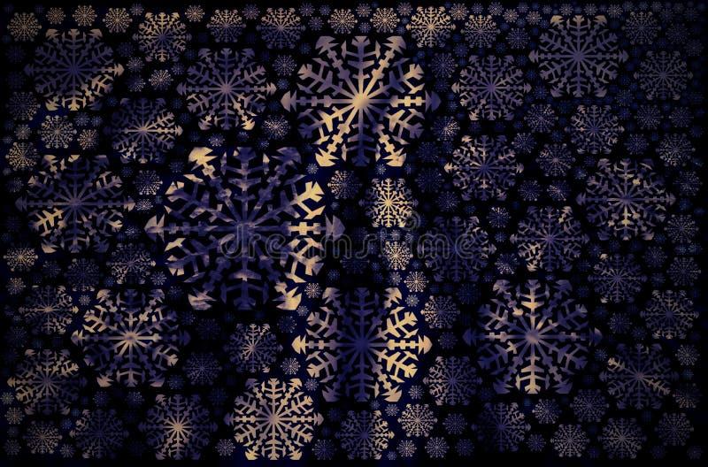 witte van de sneeuwvlokkenwinter purpere droom als achtergrond royalty-vrije illustratie