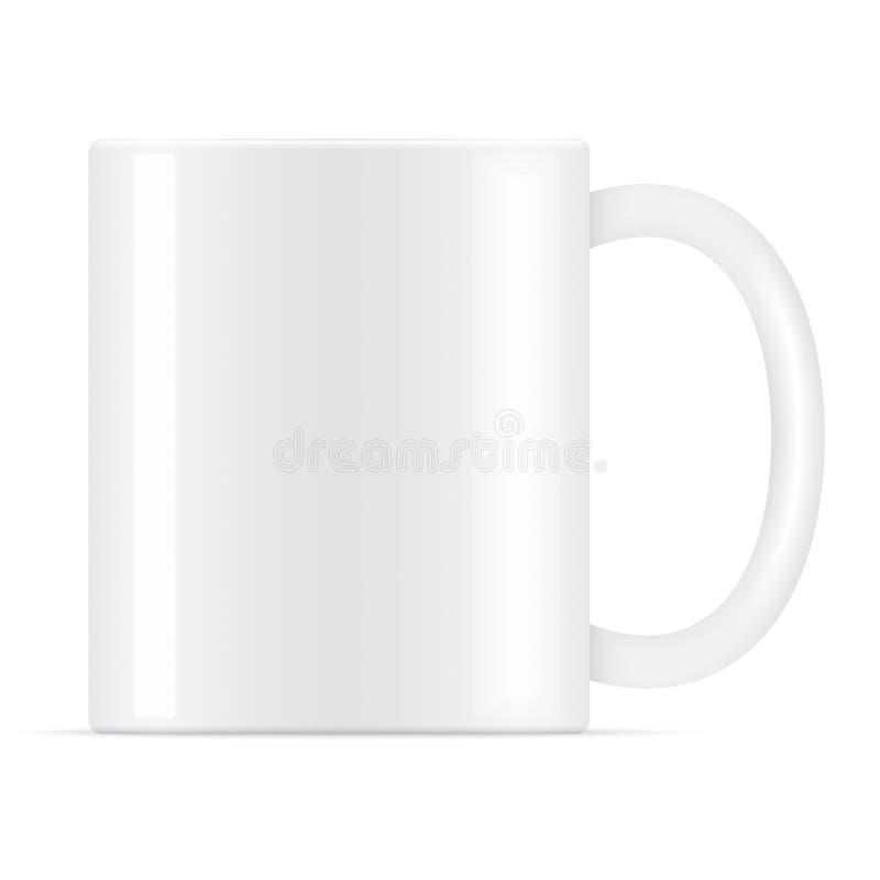 Witte vectorkoffiemok stock afbeeldingen