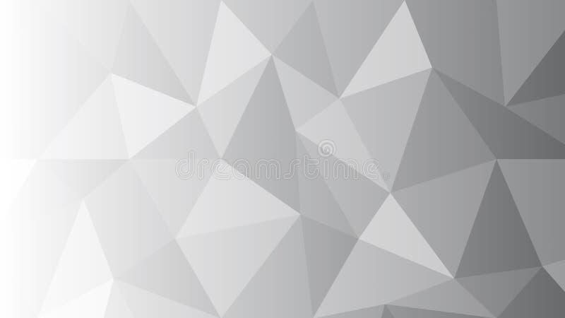 Witte Veelhoekige Moza?ekachtergrond E stock illustratie