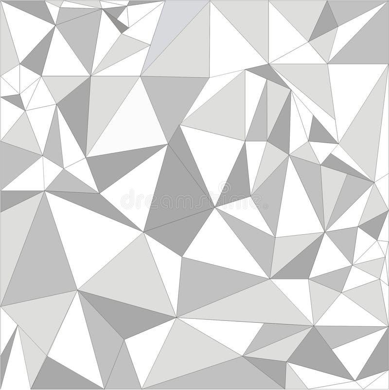 Witte Veelhoekige Textuur, collectieve achtergrond Dit is dossier van formaat EPS10 royalty-vrije stock afbeelding