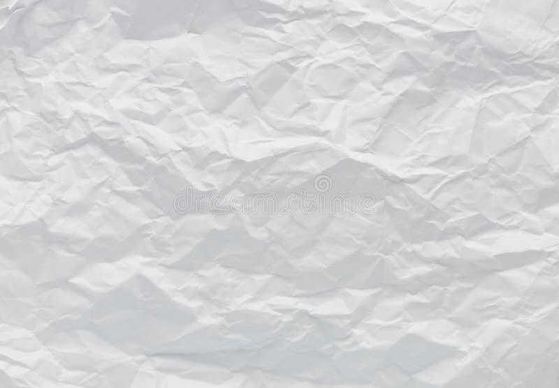 Witte verfrommelde document textuur als achtergrond stock foto's