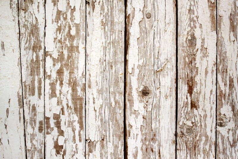 Witte verfschil van de houten muur royalty-vrije stock foto's