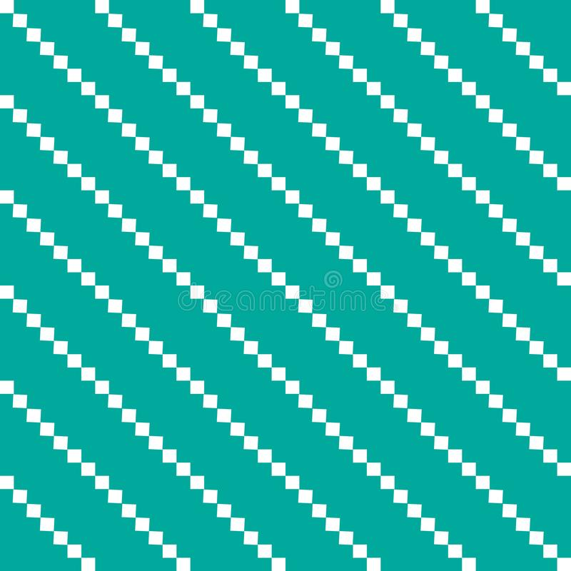 Witte verticale ballen op een groene meetkunde als achtergrond royalty-vrije illustratie