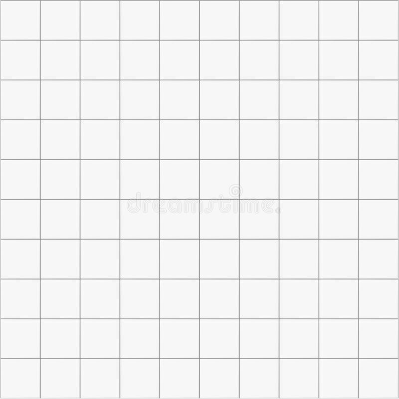 Witte vierkante ceramische naadloze patroonachtergrond, vectortegel voor keuken of badkamers vector illustratie
