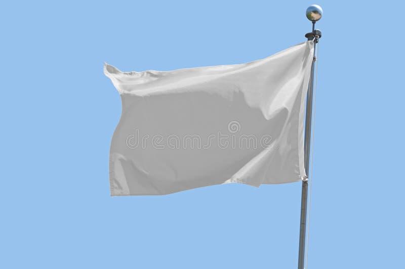 Witte vlag stock afbeelding