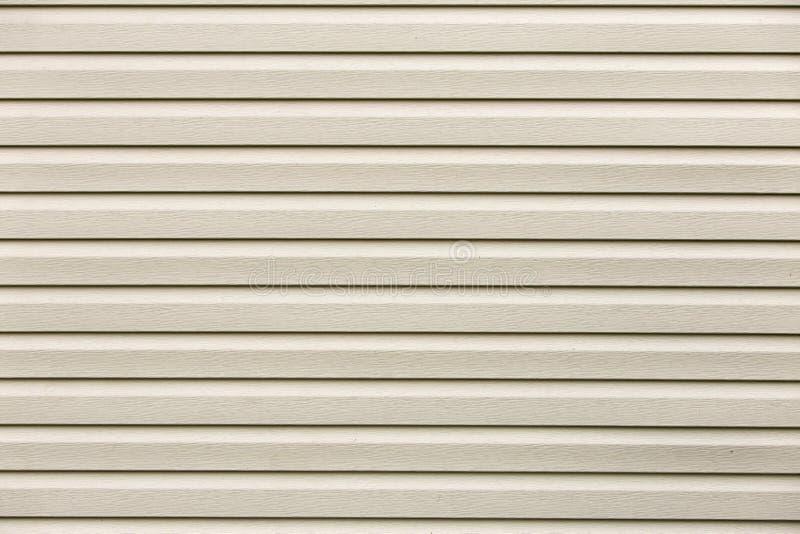 Witte vlakke horizontale oppervlaktetextuur Vinyl plastic planken, raad die, exemplaar ruimteachtergrond opruimen stock foto