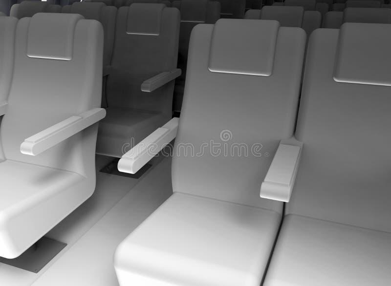 Witte vliegtuigzetels stock illustratie