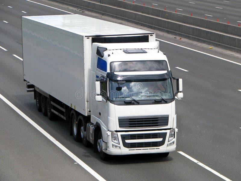 Witte vrachtwagen royalty-vrije stock foto