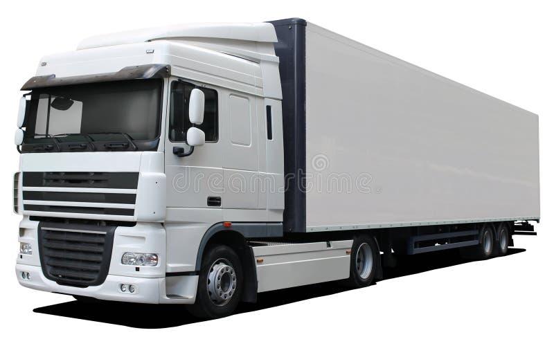 Witte vrachtwagen DAF XF stock foto's