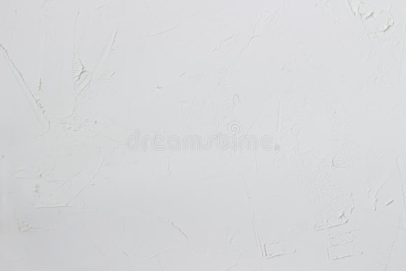 Witte weefselachtergrond wit concreet, ruw ongelijk pleister, steen ruwe muur royalty-vrije stock afbeeldingen