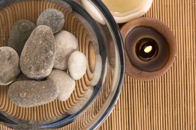 Witte wellnessproducten stock afbeeldingen