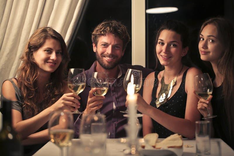 Witte wijn royalty-vrije stock afbeeldingen