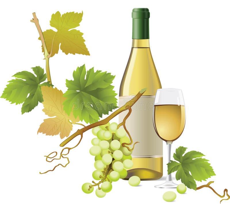 Witte Wijn stock illustratie