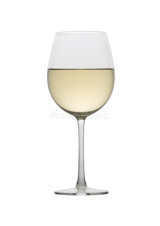 Witte wijn in een stamglas stock fotografie