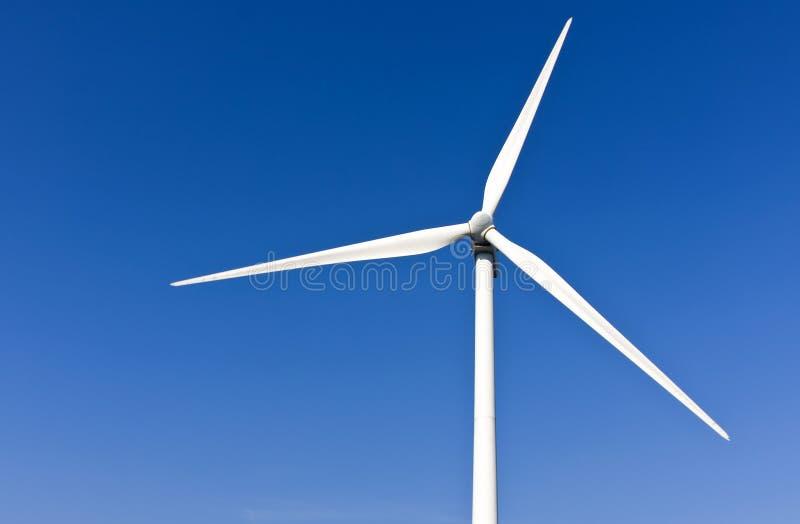 Witte windturbine royalty-vrije stock foto's
