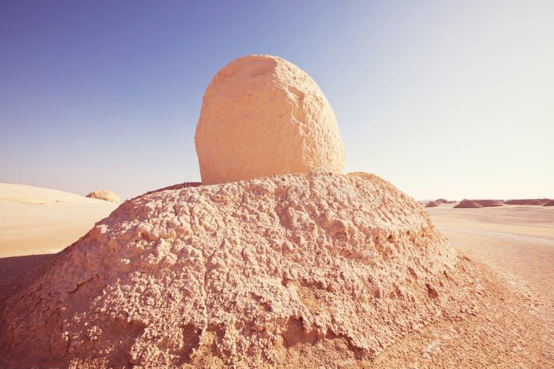 Witte woestijn in Egypte royalty-vrije stock fotografie