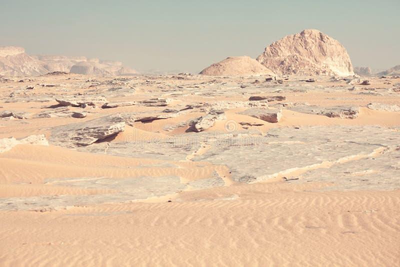 Witte woestijn in Egypte royalty-vrije stock afbeeldingen