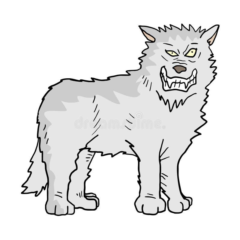Witte wolfsillustratie vector illustratie