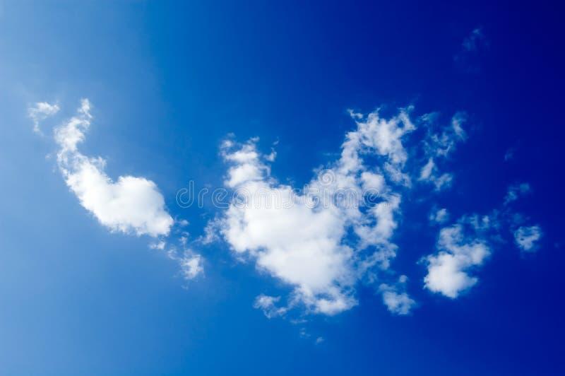 Witte wolken stock foto's