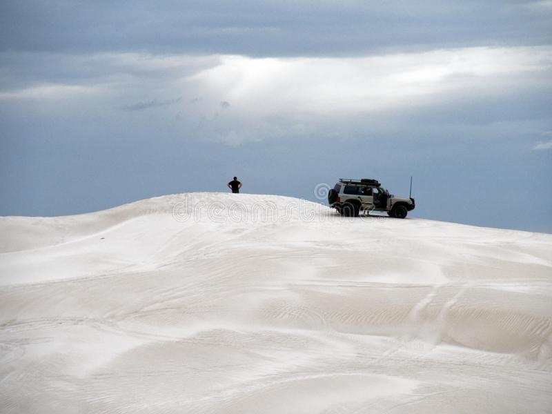 Witte Zandduinen, Lancelin, Westelijk Australië royalty-vrije stock afbeeldingen