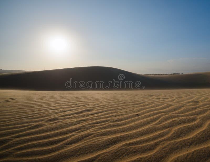 witte zandduinen Mui Ne Vietnam stock afbeelding