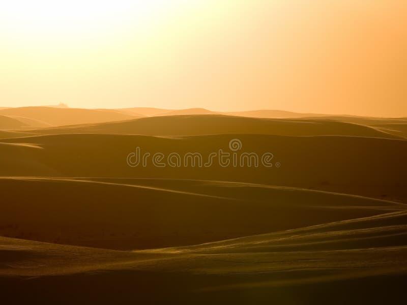 Witte zandzonsondergang stock fotografie