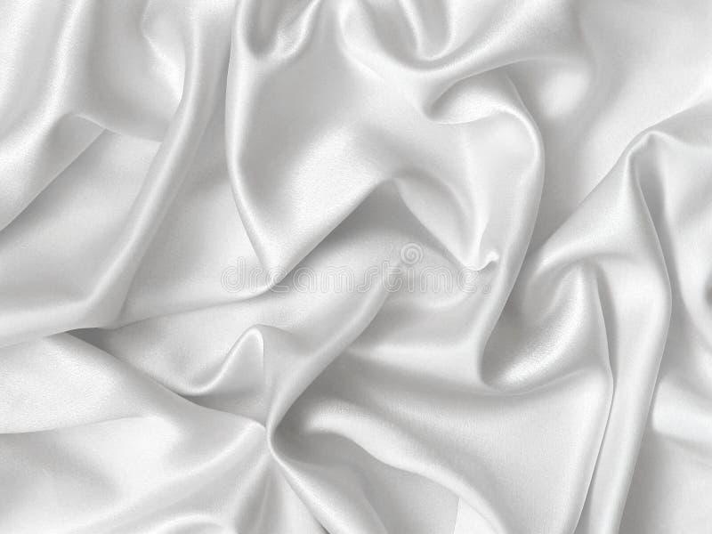 Witte zijde. stock afbeelding