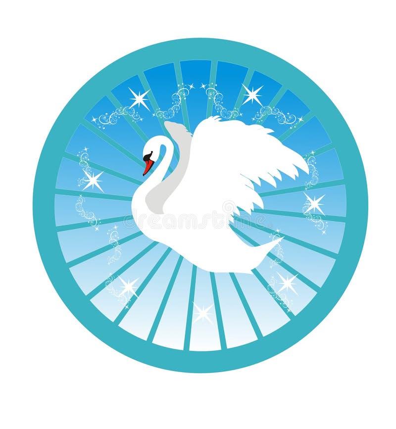 Witte zwaan royalty-vrije illustratie